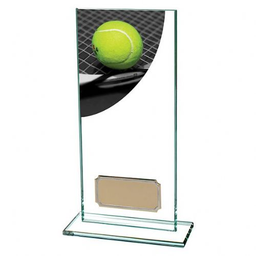 Colour Curve Tennis Jade Glass Award 180mm